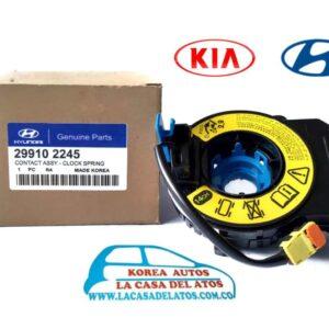 cinta air bag kia sorento grand i10 - i25 conector redondo airbag