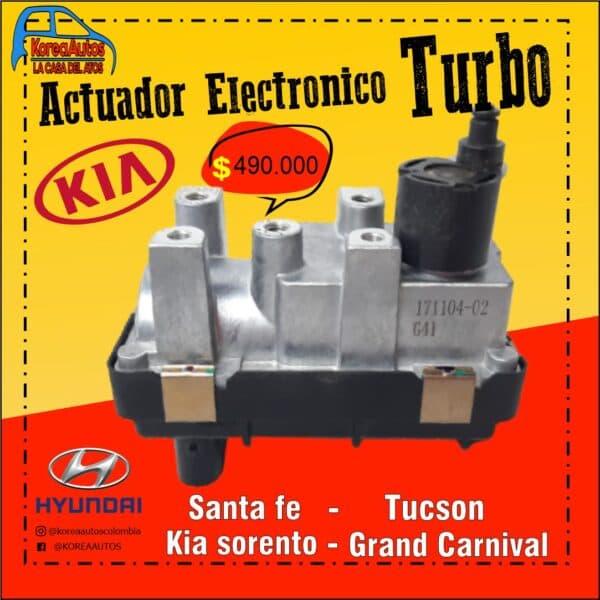 ACTUADOR ELECTRONICO TURBO SANTA FE , TUCSON , SORENTO , GRAND CARNIVAL
