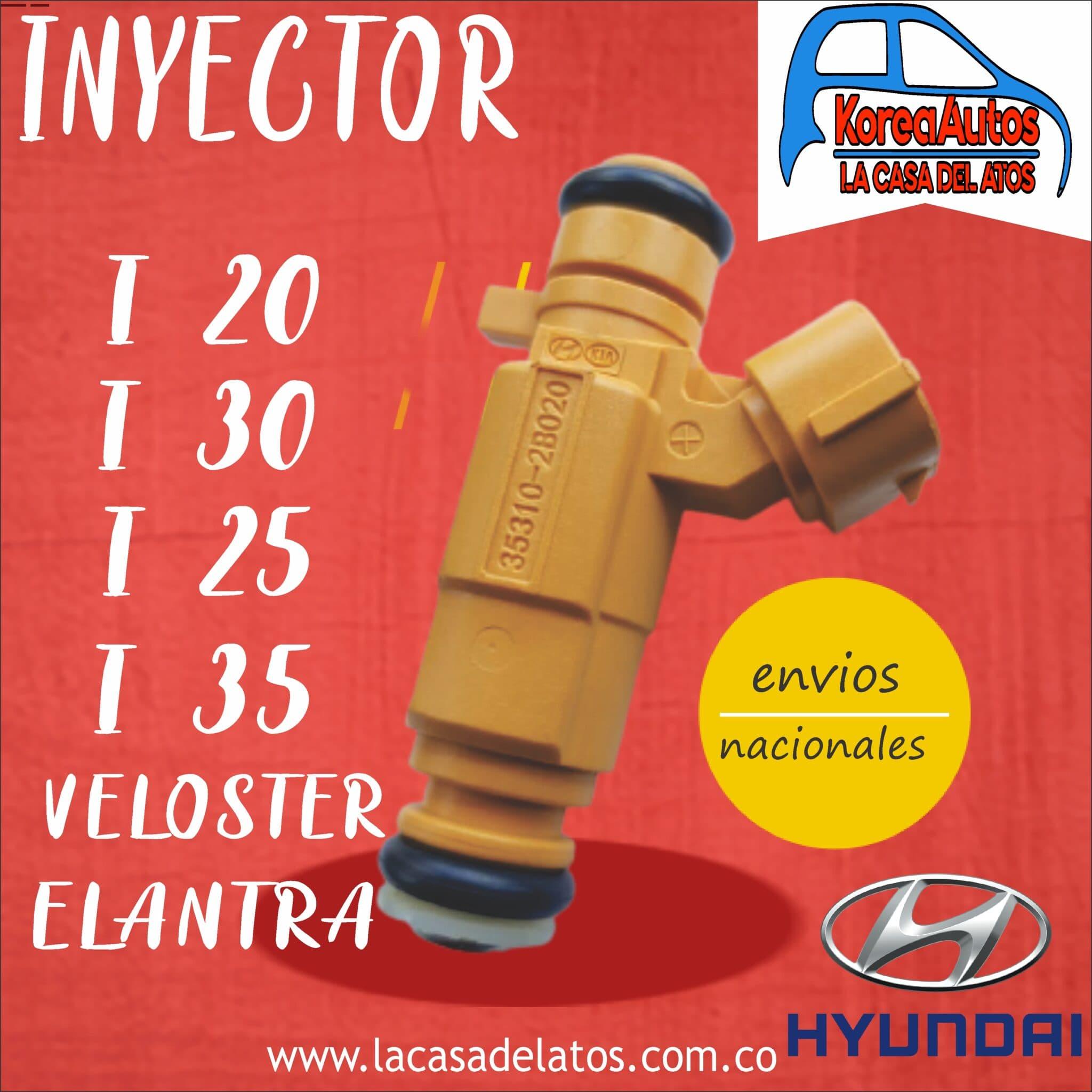 Inyector I20 I30 I25 I35 Elantra Veloster