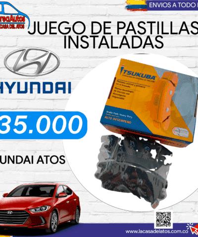 Pastillas Hyundai Atos Incluida la Instalacion